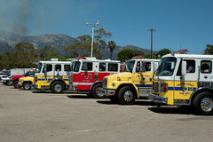 Firetrucks at Earl Warren Royalty Free Stock Photography