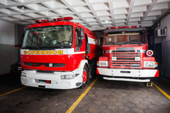 Firetrucks In Fire Station Royalty Free Stock Photography