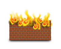 Firewall. Protection , internet security concept Stock Photo