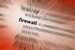 Firewall royaltyfria bilder