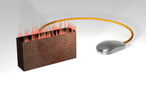 Firewall - 3D. Illustration about Bussines concepts - Firewall - 3D Royalty Free Stock Photography