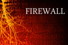 Firewall. Abstract Background in Red and Black Royalty Free Stock Photo