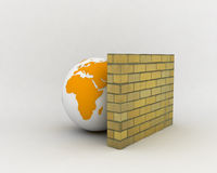 FireWall. A 3d Image representing the icon of Firewall Stock Photography