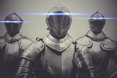 Firewall, armor with neon lights in the eyes, protection concept Royalty Free Stock Photography