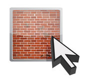 Firewall button. Illustration design over a white background Stock Images
