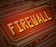 Firewall concept. Abstract style illustration depicting printed circuit board components with a Firewall concept Stock Images