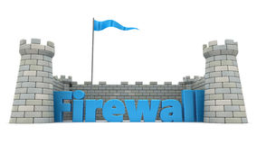 Firewall. 3d illustration of firewall protection concept Stock Photos