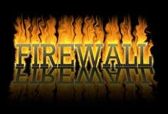 Firewall, een muur tegen de brand Stock Afbeelding