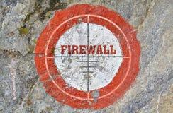 Firewall för enkelt ord royaltyfri foto