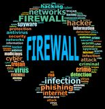 FIREWALL info text graphics Royalty Free Stock Images