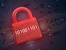 Firewall lock on mainboard Royalty Free Stock Image