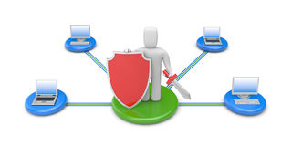 Firewall metaphor. Image contain the clipping path Stock Photo