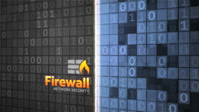 Firewall network data security animation stock video