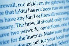 FIrewall network internet Stock Image