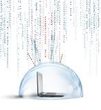 Firewall och antivirusbegrepp royaltyfri foto