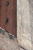 Firewall of old red brick house Stock Photography
