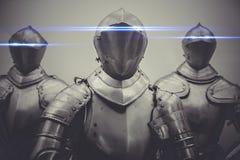 Firewall, pantser met neonlichten in de ogen, beschermingsconcept Royalty-vrije Stock Fotografie