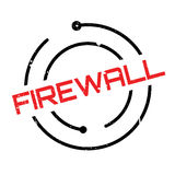 Firewall rubber stamp Royalty Free Stock Image