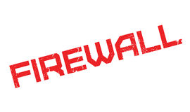 Firewall rubber stamp Stock Image