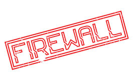 Firewall rubber stamp Royalty Free Stock Images