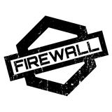 Firewall rubber stamp Stock Photography
