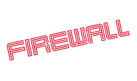 Firewall rubber stamp Stock Images
