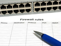 Firewall rules Royalty Free Stock Images