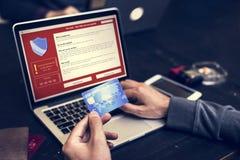 Firewall som är popup för säkerhetscybercrimeskydd arkivfoton