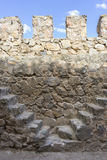 Firewall, Stone walls of a medieval castle. Town of Consuegra in Royalty Free Stock Images