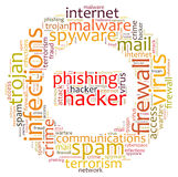 Firewall Virus. Word cloud isolated Stock Images