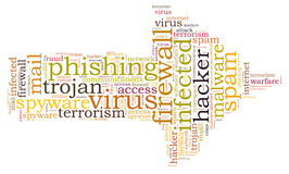 Firewall Virus word cloud. Isolated Stock Photography
