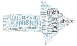 Firewall Virus word cloud. Isolated Stock Photos