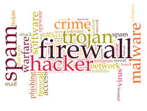 Firewall Virus word cloud. Isolated Royalty Free Stock Image