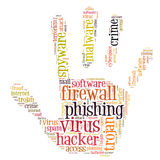 Firewall Virus word cloud. Isolated Royalty Free Stock Images