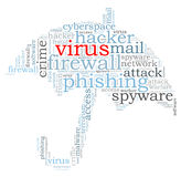 Firewall Virus word cloud. Isolated Royalty Free Stock Photos