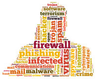 Firewall Virus word cloud Stock Photo