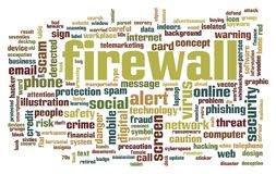 Firewall word cloud. Creative illustration of idea word lettering typography . 3D rendering Royalty Free Stock Image