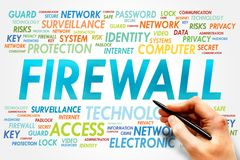 Firewall. Word cloud, security concept Stock Photography