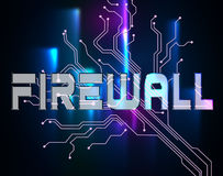 Firewall Word Means No Access And Defence. Firewall Word Indicating No Access And Royalty Free Stock Image