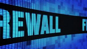 Firewall Zijtekst die LEIDEN Muurcomité de Raad van het Vertoningsteken scrollen vector illustratie