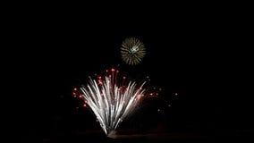 Fireweorks в ночном небе Стоковое Изображение RF