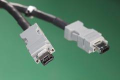 FireWire'u kabel Zdjęcia Stock