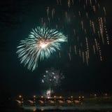 Firewoks dans Kuldiga Images stock
