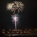 Firewoks dans Kuldiga Images libres de droits