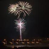 Firewoks in Kuldiga Royalty Free Stock Images
