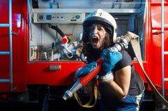 Firewoman Royaltyfria Bilder