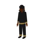 Firewoman isométrico negro Stock de ilustración