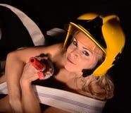 Firewoman sexy Fotografia Stock Libera da Diritti
