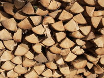 Firewood. Stack of firewood in village Royalty Free Stock Photos