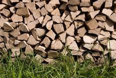 Firewood. S after the sawing wood Stock Photo